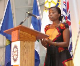 Memory speaks at the District Rotary Conference—2006