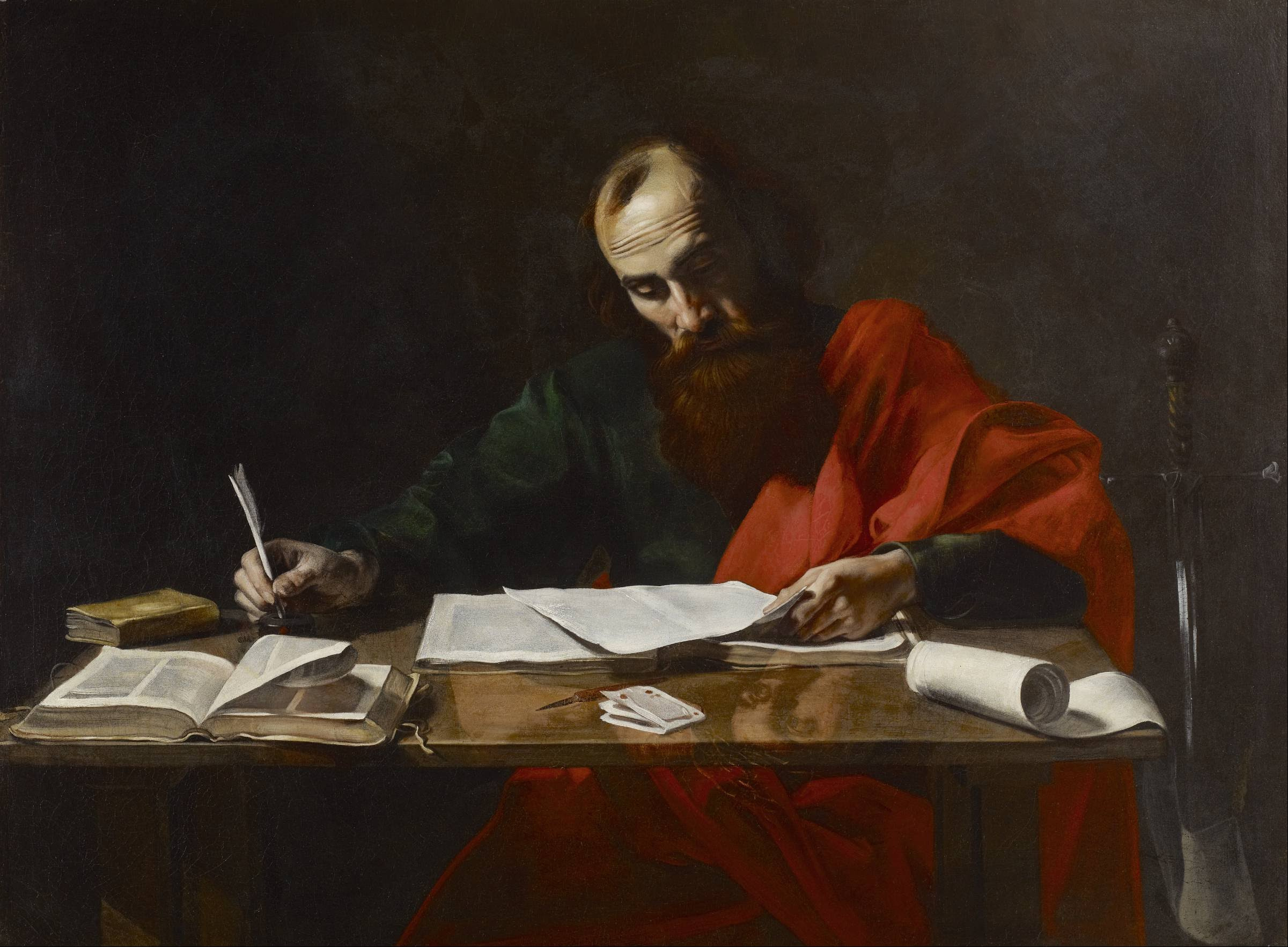 69-late-night-writing-painting-by-valentin-de-boulogne-of-saint-paul-writing-his-epistles-from-wikimedia-commons.jpg